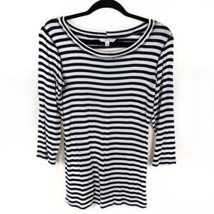 CAbi Deckhand Tee nautical striped style 349 sz M